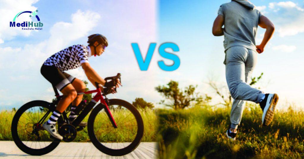 Cycling versus running