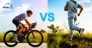 Cycling versus running